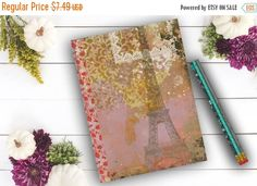 CYBER MONDAY SALE Paris Journal Eiffel Tower Diary by Teakberry