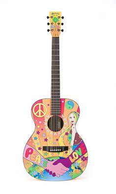 Peace: Martin flower power Hippie guitar.