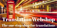 TranslationWebshop: the one stop shop for translations. TranslationWebshop: de one stop shop voor vertalingen.