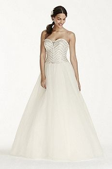 Tulle Ball Gown with Crystal Bodice WG3754