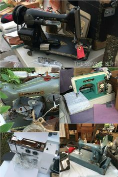 What's old is new again. So many vintage sewing machines spotted along the 127 sale. The Sewing Loft