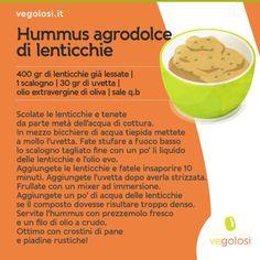 hummus agrodolce di lenticchie