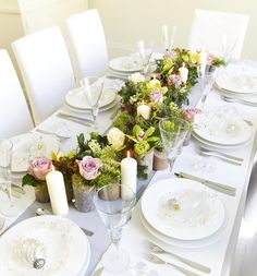 This gorgeous floral table arrangement would look picture perfect on the top table at your wedding.