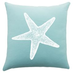 lower master Bring ocean-chic style to your sofa or favorite reading nook with this charming cotton pillow, featuring a starfish motif. Handmade in the USA. Coastal Cottage, Coastal Style, Coastal Decor, Coastal Living, Blue Pillows, Throw Pillows, Beach Room, Cotton Pillow, Beach Cottages