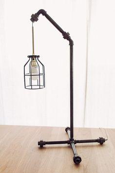 DIY Black Pipe Table Lamp #sponsored