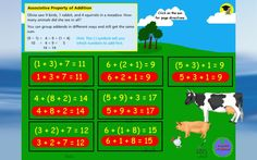 Here's a helpful flipchart file on properties of addition.