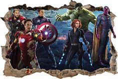 The Avengers Smashed Wall Decal Removable Graphic Wall Sticker Mural 2 H145 Large * Learn more by visiting the image link.