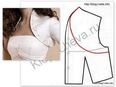 or this kind with the raglans bolero Fashion Sewing, Diy Fashion, Ideias Fashion, Bolero Pattern, Jacket Pattern, Sleeve Pattern, Corset Pattern, Top Pattern, Diy Clothing