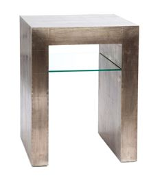 bedside table   Design without the glass.  Maybe a drawer instead?