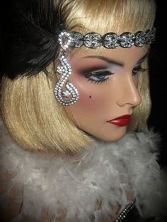 DECO BLACK & BLING  Gatsby Flapper Black And by AllThatJazzDesign, $42.00