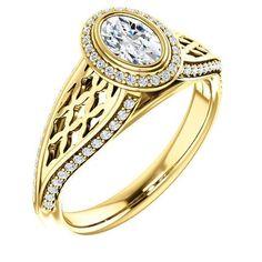 Halo-style Bezel Ring