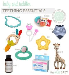 The most comprehensive guide to surviving teething - teething essentials!