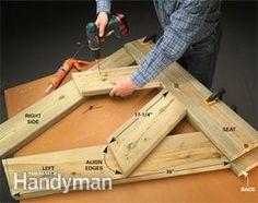 Assemble this sturdy bench from two 10-foot 2x8s, glue and a handful of screws. A novice can complete it in a few hours.