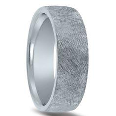 Wedding ring finish - crisscross florentine
