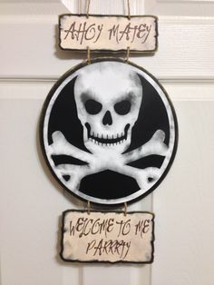Decorate your door with this awesome pirate themed door sign!  from EPIC PARTIES on Etsy