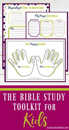 Make Bible study FUN for kids and SIMPLE for moms!  The 20+ page Bible Study Toolkit for Kids is the perfect way to make Scripture come alive for your kids and help lay a firm foundation of faith. (aff). #familyBiblestudy #kidsdevotional #Biblestudy