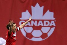 If Christine Sinclair, the finest female team athlete produced by Canada in a generation, can power the women's soccer team through to gold, she'll li. Nike Motivation, Fifa Women's World Cup, Air Max Women, Air Max Thea, Sports Figures, Soccer Players, Football Team, Jordan Retro, My Idol