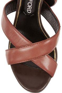 Tom Ford|Leather sandals|NET-A-PORTER.COM