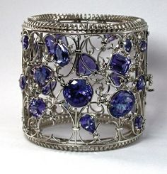 As if!!!! Hand Made 18K White Gold and Tanzanite Cuff Bracelet by J Grahl Design | CustomMade.com