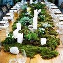 Decoracion de boda con musgo