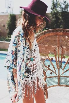 Festival essentials: Crochet tops and kimonos.