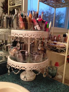 """I bought this beautiful 2 tiered dessert tower from """"Lamps Plus"""". I discovered the company out of California from Amazon.com."""