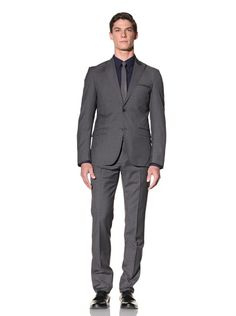 85% OFF Calvin Klein Collection Men's The Crosby Slim Suit (Charcoal Grey)