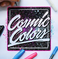 Awesome script and the galaxy background is fantastic. Type by @el_juantastico | #typegang - typegang.com