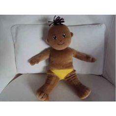 "Cuddly 12"" Rag Doll (Unclothed) - Chinese Oriental Boy Yellow Pants, Tan Skin, Rag Dolls, Stuffed Animals, Beautiful Boys, Black Hair, Oriental, Chinese, Teddy Bear"