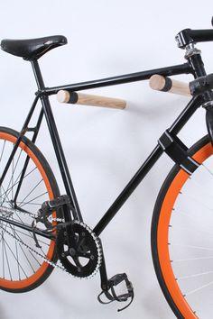 Copenhagen wooden bike rack/ bike hooks / bicycle by twonee Rack Velo, Indoor Bike Rack, Indoor Bike Storage, Bike Hooks, Bicycle Storage, Bicycle Rack, Bike Storage Inside, Bicycle Sidecar, Bicycle Tools