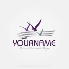 Create a Logo - Seagulls logo templates Leon Logo, Bird Logos, Eagle Logo, Logo Design Inspiration, Design Ideas, Travel Logo, Free Logo, Logo Maker, Animal Logo