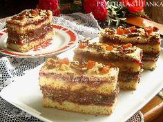 Prajitura Stefanka are multe versiuni pe net. Varianta mea este inspirata de pe un forum rusesc, dar am adaptat-o dupa o prajitura care v-am prezentat-o deja: Prajitura cu nuci si fructe con…