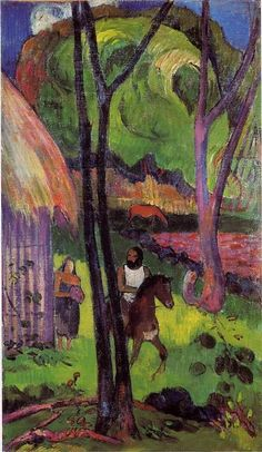 The rider in front of the hub - Paul Gauguin - WikiArt.org