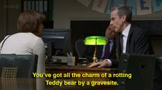 Peter Capaldi as Malcolm Tucker on the BBC series The Thick of It