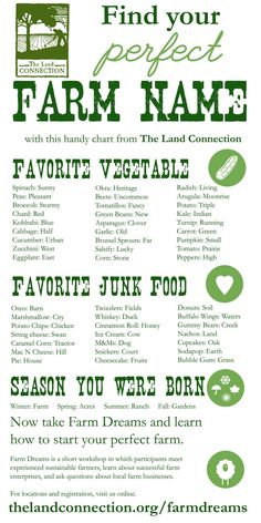 Find your perfect farm name. (Chicken Houses Names) Homestead Farm, Homestead Survival, Homestead Layout, Homestead Living, Survival Life, Mumbai, Farm Name, Farm Plans, Farm Business