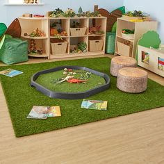 Super Genius Ideas: Artificial Grass Slope where to buy artificial plants.Artificial Garden Ideas Christmas Trees large artificial plants home. Preschool Classroom Layout, Preschool Rooms, Reggio Classroom, Toddler Classroom, Classroom Design, Classroom Decor, Reading Garden Classroom, Toddler Daycare, Best Toddler Toys