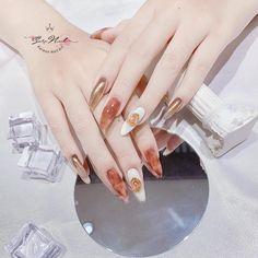 Orange Nails, Mani Pedi, Swag Nails, Gel Nails, Eye Makeup, Nail Designs, Nail Art, Femininity, Beauty
