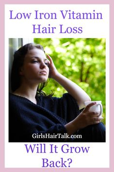 Low Iron Hair Loss Deficiency Will It Grow Back? Low Iron Symptoms, Iron Vitamin, Androgenetic Alopecia, Vitamins For Hair Loss, Hair Loss Causes, Hair Iron, Brittle Hair, Hair Loss Women, Dry Scalp