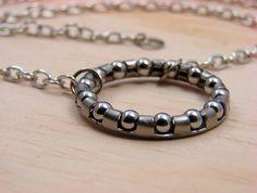 Steampunk Pendant Necklace Hardware Ball Bearing. $19.00, via Etsy.