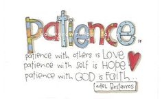 """Love Stephanie's doodle on """"patience""""."""