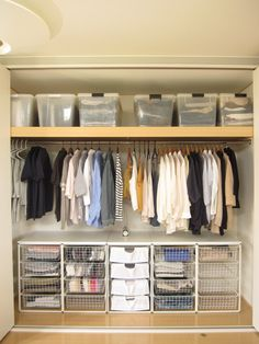 Pin by Home Organization on closet organization in 2019 Small Closet Storage, Small Closet Organization, Small Closets, Organization Ideas, Apartment Closet Organization, Organizing, Small Apartment Storage, Apartment Ideas, Clothes Storage Ideas For Small Spaces