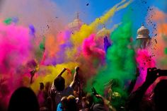 A temple to Krishna in Spanish Fork, Utah where Holi, the festival of colors, is celebrated.