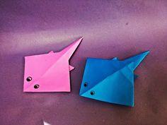 가오리(홍어) 종이접기 How to Make Easy Paper Origami Stingray - YouTube