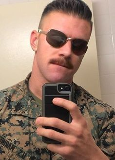 Mustache Men, Mustache Styles, Moustache, Sexy Military Men, Male Pattern Baldness, Semper Fi, Men In Uniform, Bradford, Attractive Men