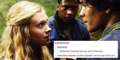 Bellarke + tumblr text posts
