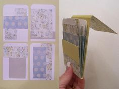 Library Pocket Mini Album. Tutorial with template for pockets....