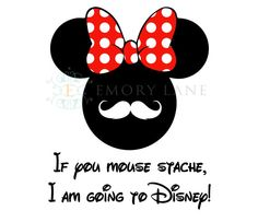 Mouse Red Bow If You Mouse Stache I'm Going To by EmoryLaneStudios