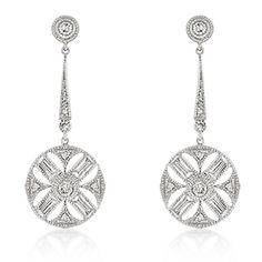 cz zodiac earrings