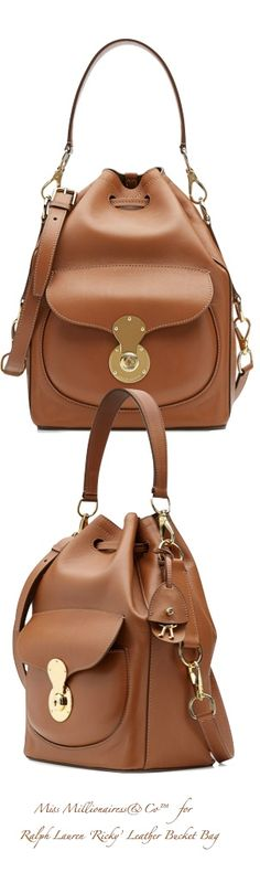Ralph Lauren 'Ricky' Leather Bucket Bag