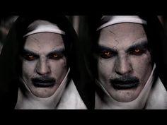 Valak Demon Nun Halloween Makeup Tutorial | The Conjuring 2 - YouTube
